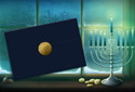 Hanukkah Wishes animated Flash ecard