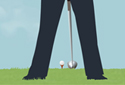 Hole in One! animated Flash  ecard