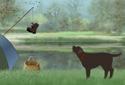 Gone Fishin' animated Flash  ecard