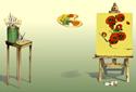 Sunflowers animated Flash  ecard