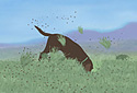 Digging for Gold animated Flash ecard