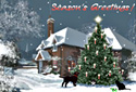 Christmas Cottage animated Flash ecard
