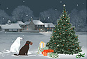 The Snowdog animated Flash ecard