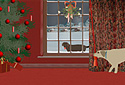 Molly & the Mistletoe animated Flash ecard