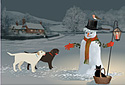 A Winter Waltz animated Flash ecard