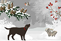 White Winter animated Flash ecard