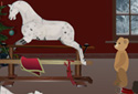 The Rocking Horse (Christmas Version) animated Flash ecard