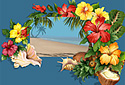 A Tropical Treat animated Flash ecard