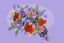 Flowers for You animated Flash ecard