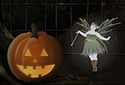 Halloween Scene animated Flash ecard