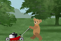 The Lawnmower animated Flash ecard