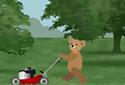 The Lawnmower animated Flash ecard
