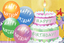 Birthday Wishes animated Flash ecard