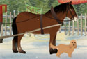 The Christmas Pony animated Flash ecard