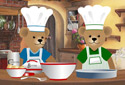 Too Many Cooks animated Flash ecard