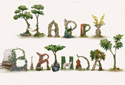 Birthday Letters animated Flash ecard