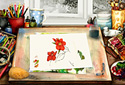Water Colours animated Flash ecard