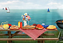 Patriotic Picnic animated Flash ecard