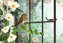 Birds and Blooms animated Flash ecard