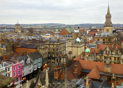Scenic view of Oxford