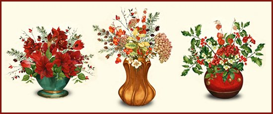 Her Ladyship's flower arrangements